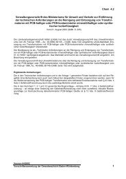 Verwaltungsvorschrift des Ministeriums für Umwelt und Verkehr zur ...