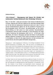 am nationalen Solidaritätsevent der Krebsliga Schweiz - Fit-4-Future