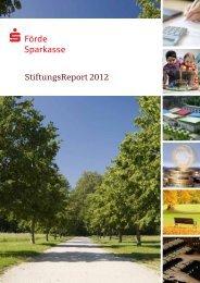StiftungsReport 2012 (PDF ca. 1,3 MB) - Förde Sparkasse