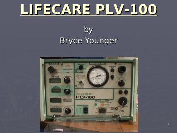 LIFECARE PLV-100 - Frank's Hospital Workshop