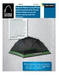 Backpacker Magazine's spring 2012 gear guide hit newsstands ...