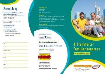 4. Frankfurter Familienkongress - Frankfurter Bündnis für Familien
