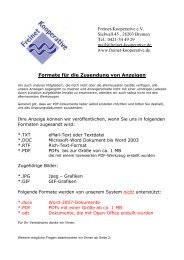 Freinet-Kooperative e.V. Sielwall 45 , 28203 Bremen Tel.: 0421-34 ...