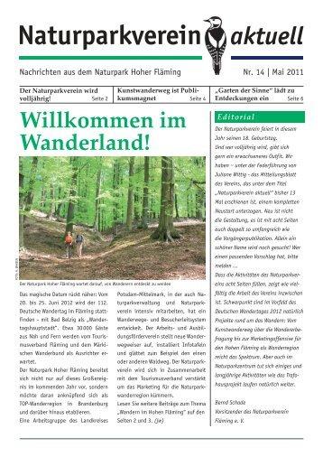 Naturparkverein aktuell Nr. 14 - Naturpark Hoher Fläming
