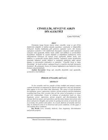 Cinsellik, Sevgi ve Aşkın Diyalektiği - Flsf-Felsefe ve Sosyal Bilimler ...
