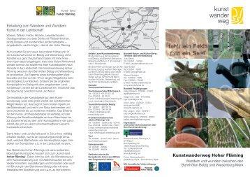 Kunstwanderweg Hoher Fläming - Naturpark Hoher Fläming