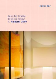 Julius Bär Gruppe Business Review 1. Halbjahr ... - GAM Holding AG