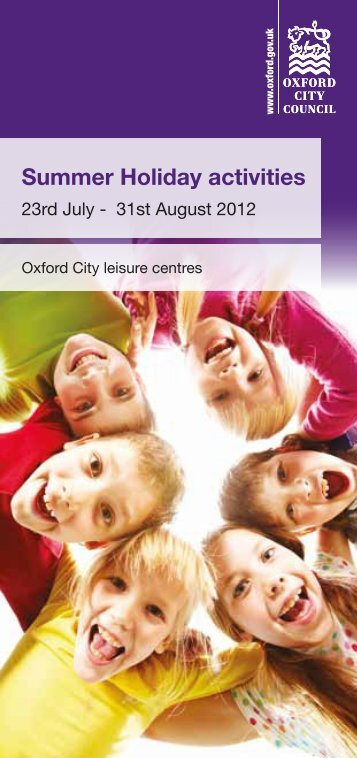 Summer Holiday activities - Fusion Lifestyle