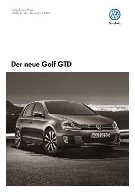 Der neue Golf GTD - Tauwald Automobile