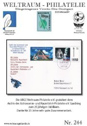 244 Heft CH-SPN Seiten - Gesellschaft der Weltall-Philatelisten, CH