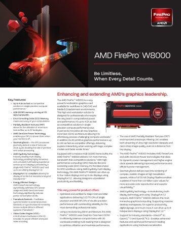 AMD FirePro™ W8000 Data Sheet