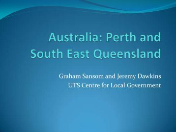 Australia: Perth and South East Queensland - Forum of Federations