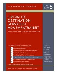 origin to destination service in ada paratransit - City of Fresno