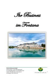 Fontana Restaurant GmbH Fontana Allee 1 ... - Golfclub Fontana