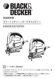 KS600E/KS700PEK - Black & Decker