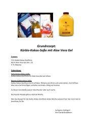 Grundrezept: Kürbis-Kokos-Soße mit Aloe Vera Gel - FLP-News