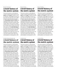 A brief history of the metric system A brief history of the ... - FontShop
