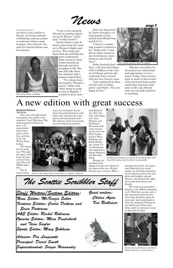 February 2010 Issue, page 2-3 - Freeman School District