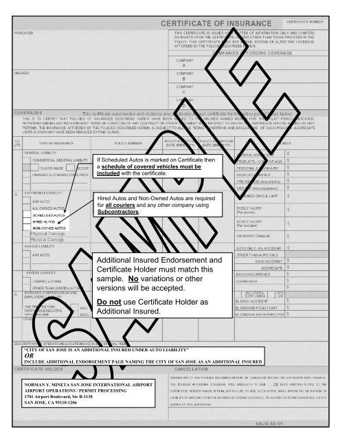 sample accord insurance certificate san jose international
