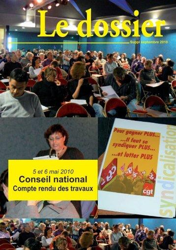 Conseil national 4 et 5mai 2010 - Féderation - La cgt
