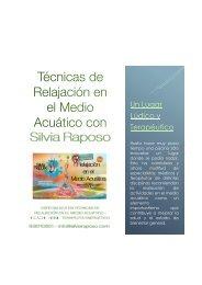 Relajación en el Medio Acuático con Silvia Raposo