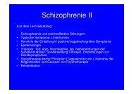 Schizophrenie Epidemiologie Behandlung