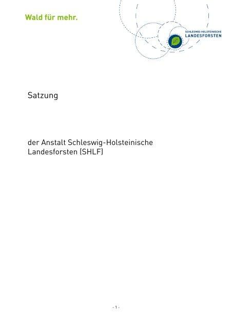 Satzung - Schleswig-Holsteinische Landesforsten