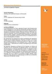 Geplanter Programmablauf Bildungsurlaub Glücksburg 2012 - Forum Unna