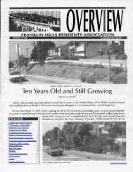 Fall issue #30 - Franklin Hills Residents Association