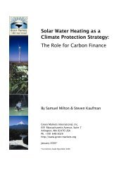 Solar Water Heating as a Climate Protection Strategy: The Role for ...