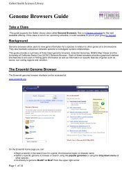 Genome Browsers Guide - Galter Health Sciences Library