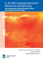 2. Ernährungssymposium Klinische Ernährung - Fortbildung ...