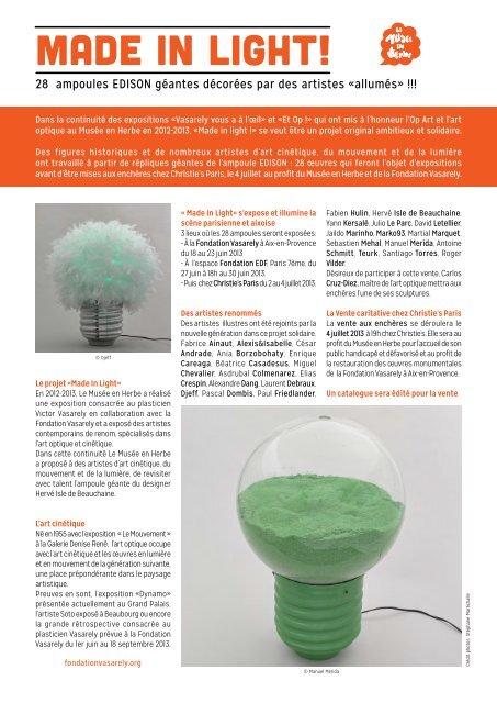 MADE IN LIGHT! - Fondation Vasarely