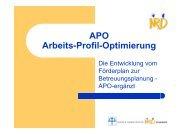 APO Arbeits-Profil-Optimierung - GBM