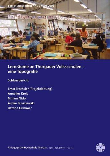 Trachsler et al_Lernraum 2006.pdf - Pädagogische Hochschule Thurgau