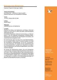 Programm Wangerooge Oktober 2009 - Forum Unna
