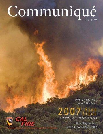 Communiqué - Cal Fire - State of California
