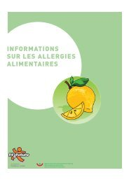INFORMATIONS SUR LES ALLERGIES ALIMENTAIRES - Fit-4-Future