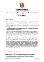 3. Änderung des Bebauungsplanes ... - Stadt Freilassing