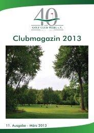 Clubmagazin 11-2013.indd - Golfclub Werl