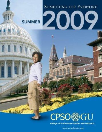 2009 Summer Catalog - Gallaudet University