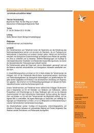 Programmablauf Bildungsurlaub Bayerischer Wald 2012... - Forum Unna
