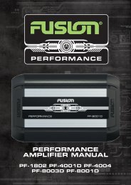 encounter performance performance amplifier manual - Fusion