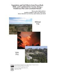 Vegetation and soil effects from prescribed, wild, and combined fire ...