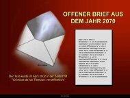 Carta Escrita no Ano 2070 - Forum-Bioenergetik eV