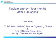 Nuclear energy - four months after Fukushima
