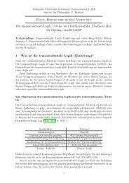 Kant, Kritik der reinen Vernunft Die transzendentale Logik, Urteils ...