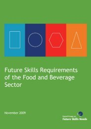Future Skills Requirements of the Food and Beverage ... - Skills Ireland