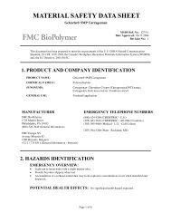 Gelcarin® SMP Carrageenan - FMC Corporation