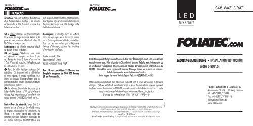 leD-Flexstripes - Foliatec